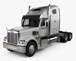 3D model of Freightliner Coronado Sleeper Cab Tractor Truck 2009