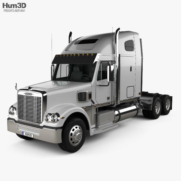 Freightliner Coronado Sleeper Cab Tractor Truck 2009 3D model
