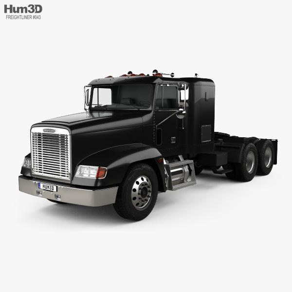 Freightliner FLD 120 Tractor Flat Top Sleeper Cab Truck 1994 3D model