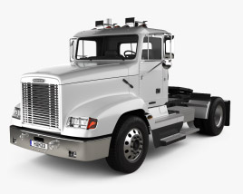 3D model of Freightliner FLD 112 Day Cab Tractor Truck 2002