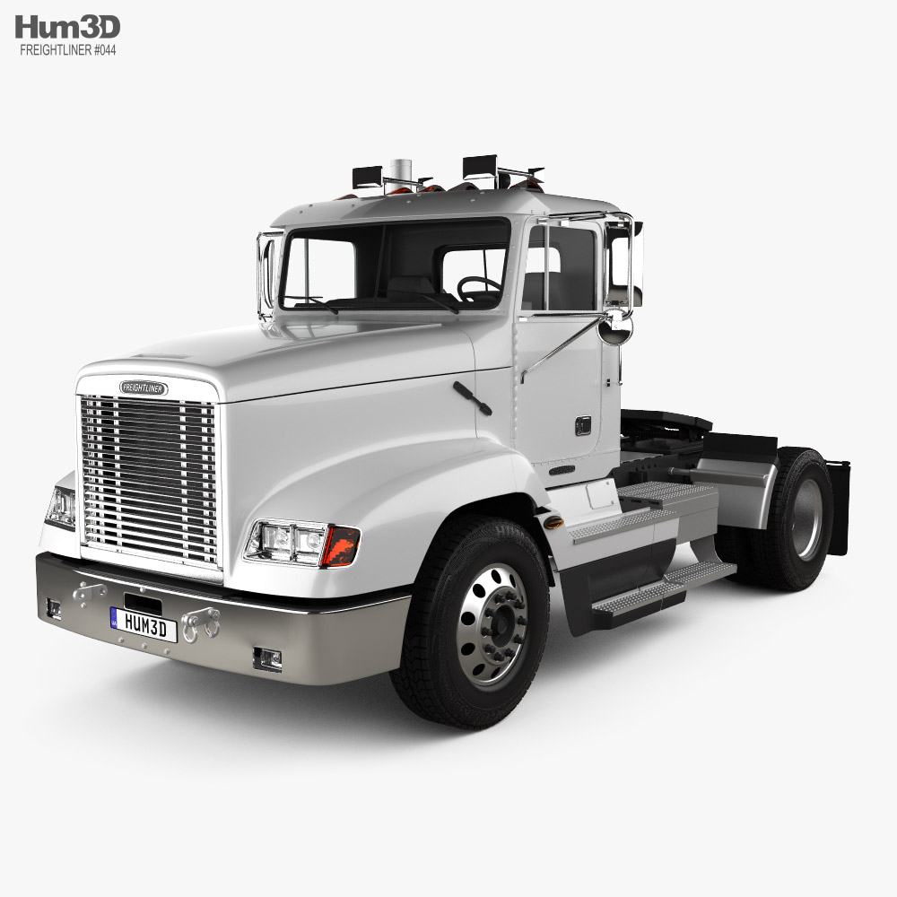 Freightliner FLD 112 Day Cab Tractor Truck 2002 3D model