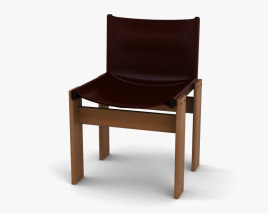 Afra and Tobia Scarpa Monk Chair 3D model