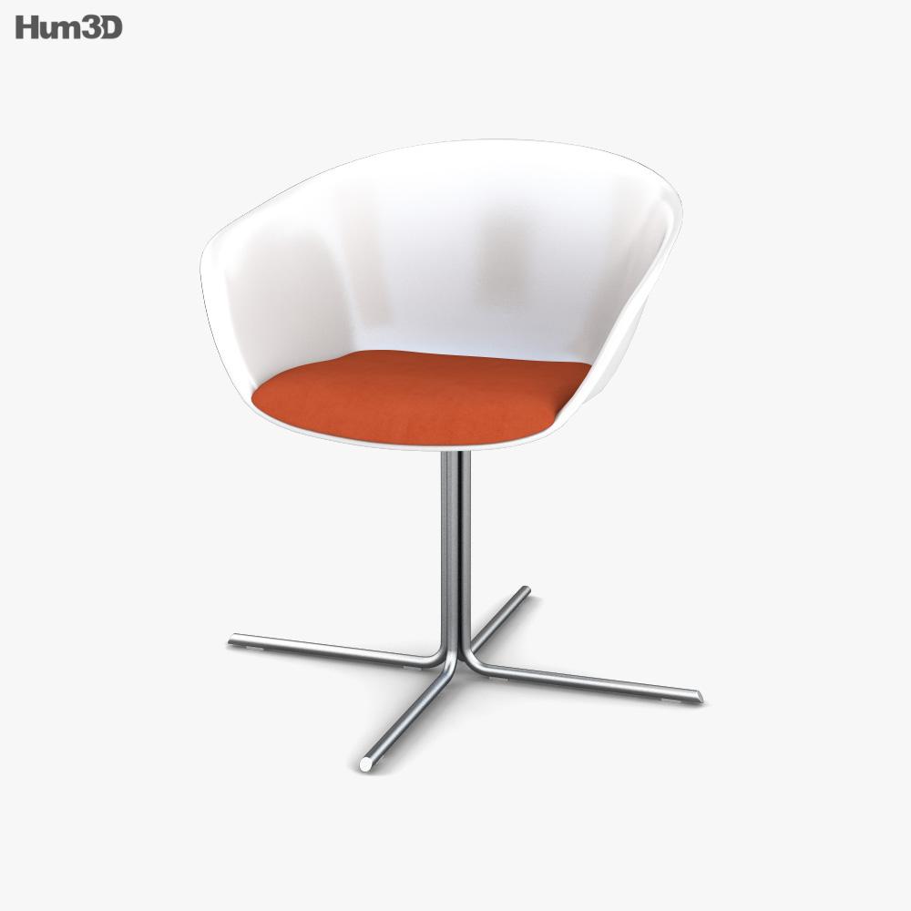 Arper Duna 4 Ways Armchair 3D model