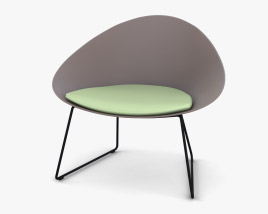 Arper Adell Sled Chair 3D model