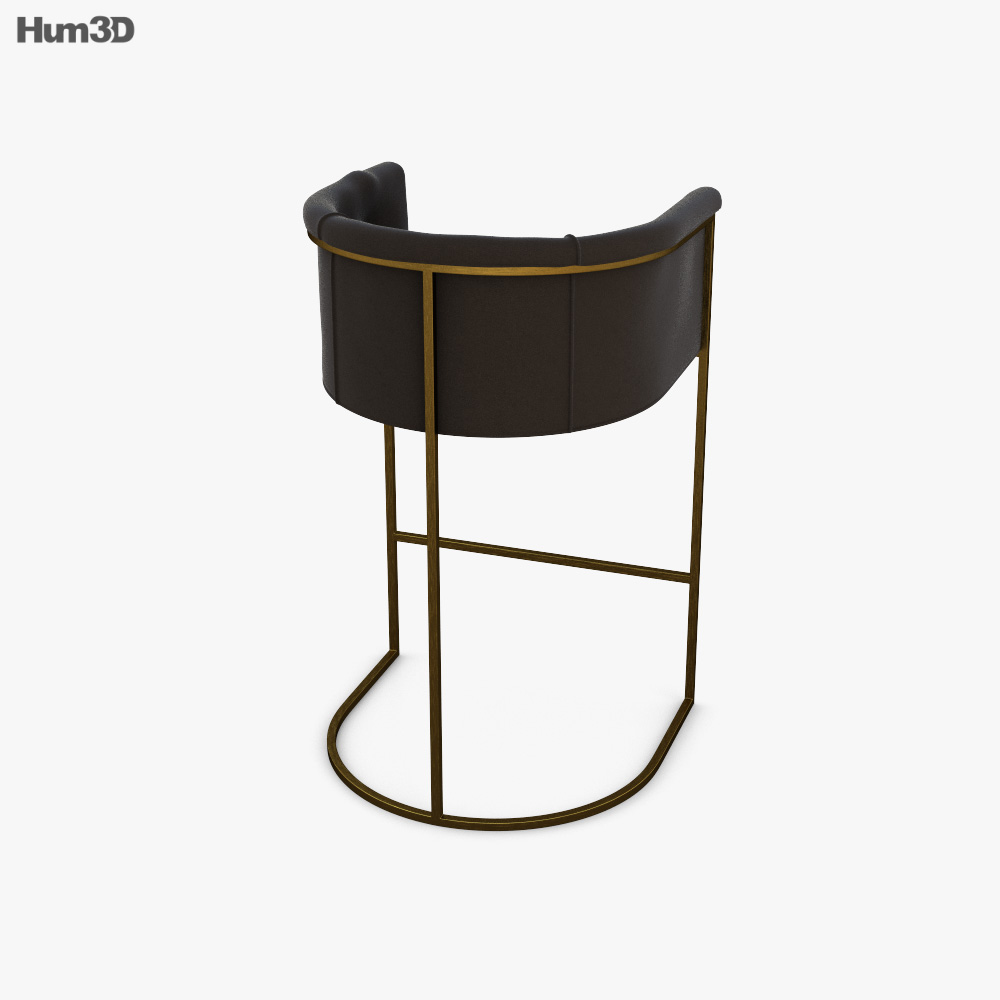 Arteriors Calvin Bar stool 3d model