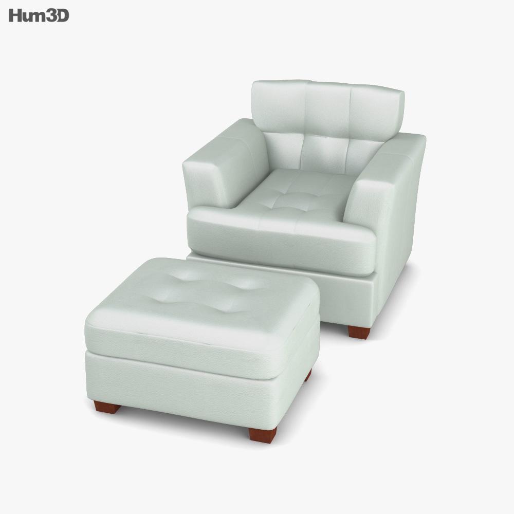 Ashley Zia - Spa Armchair 3D model