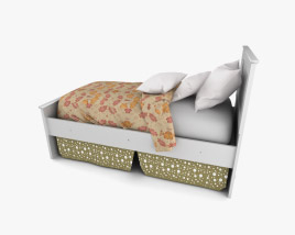Ashley Sandhill Panel bed 3D model