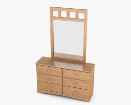 Ashley Benjamin Dresser & mirror 3D model