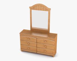 Ashley Stages Dresser & mirror 3D model