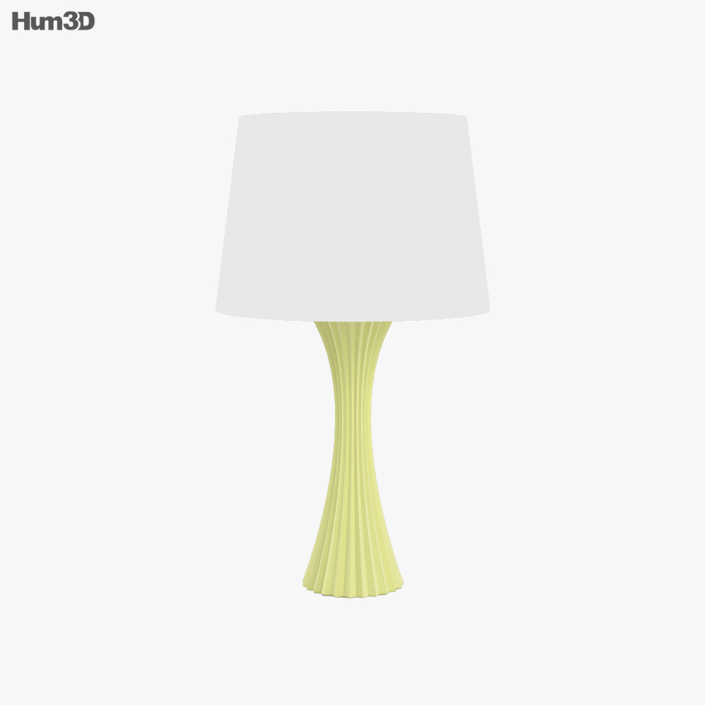 Ashley Emory Yellow table lamp 3d model