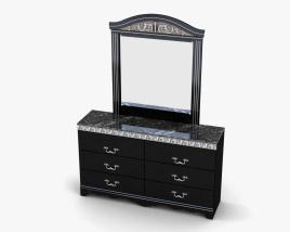 Ashley Constellations Dresser & mirror 3D model