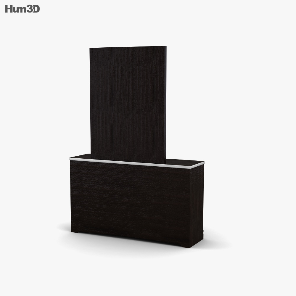 Ashley I-Zone Bookcase Dresser & mirror 3d model