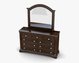 Ashley Leighton Dresser & mirror 3D model