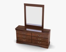 Ashley Wilmington Dresser & mirror 3D model