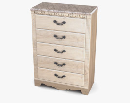Ashley Silverglade Chest of Drawers 3D model