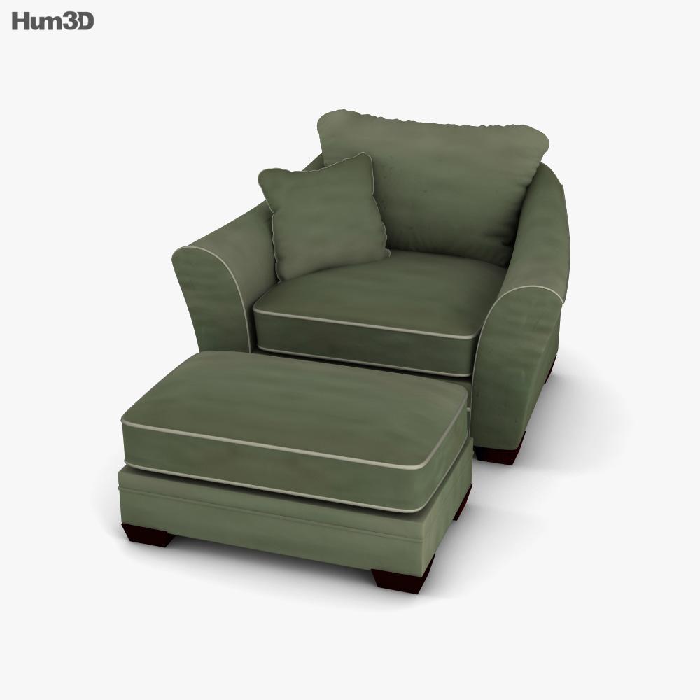 Ashley Durapella Olive Oversized Chair 3D model