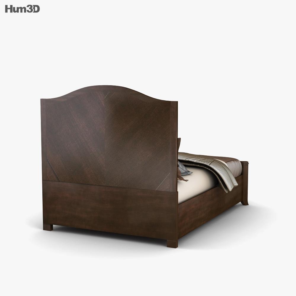 Ashley Ashlyn Queen Sleigh Bed 3d model