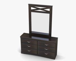 Ashley X-cess Dresser & mirror 3D model