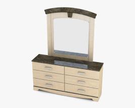 Ashley Olivia Bay Dresser & mirror 3D model