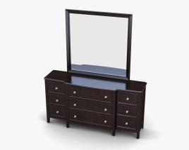 Ashley Carlyle Dresser & mirror 3D model