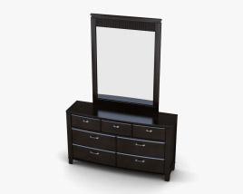 Ashley Emory Dresser & mirror 3D model