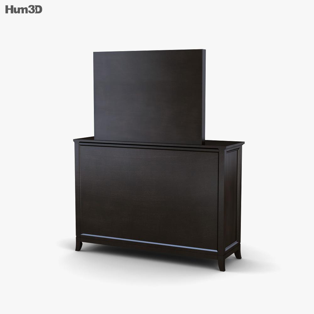 Ashley Martini Suite Dresser & mirror 3d model