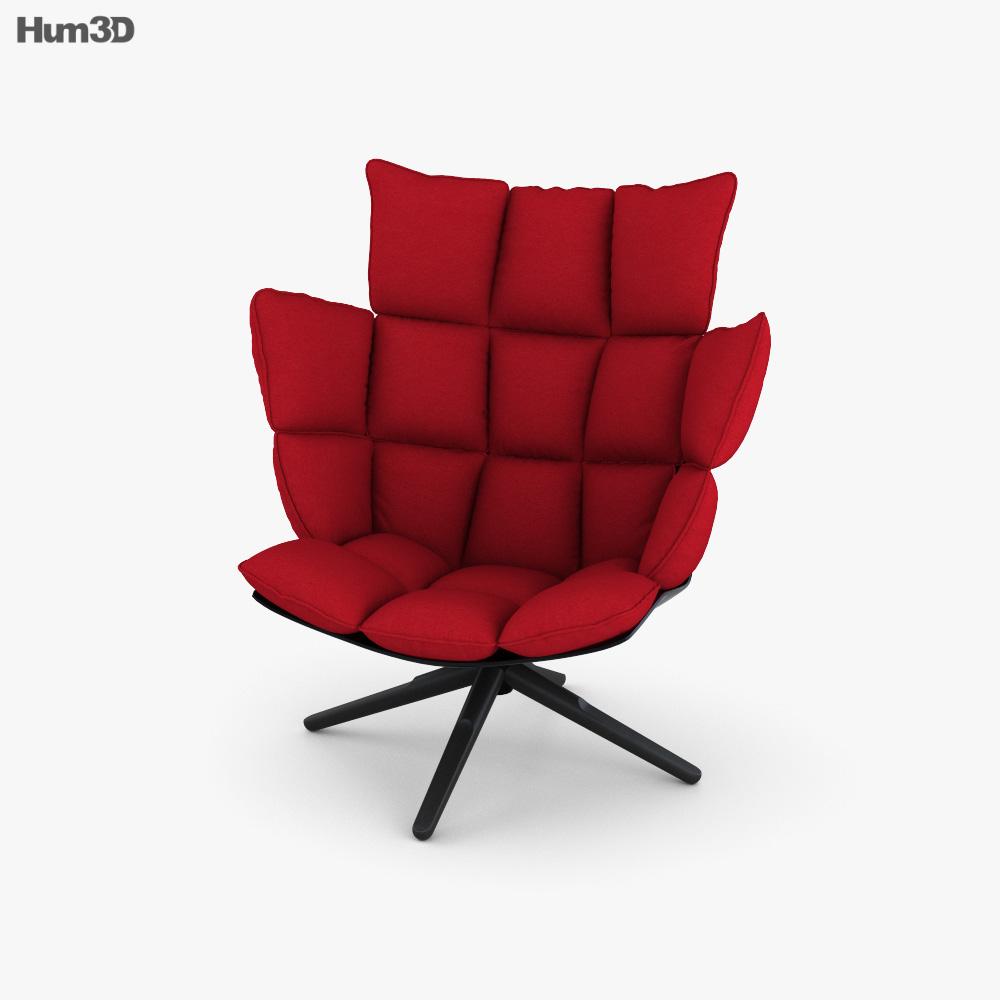 B and B Husk Armchair 3D model