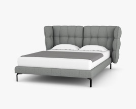 B and B Husk Bed 3D model