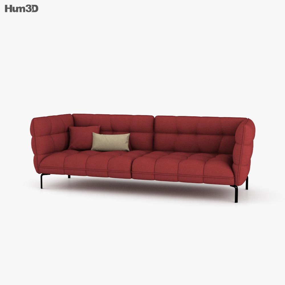 B and B Husk Sofa 3D model