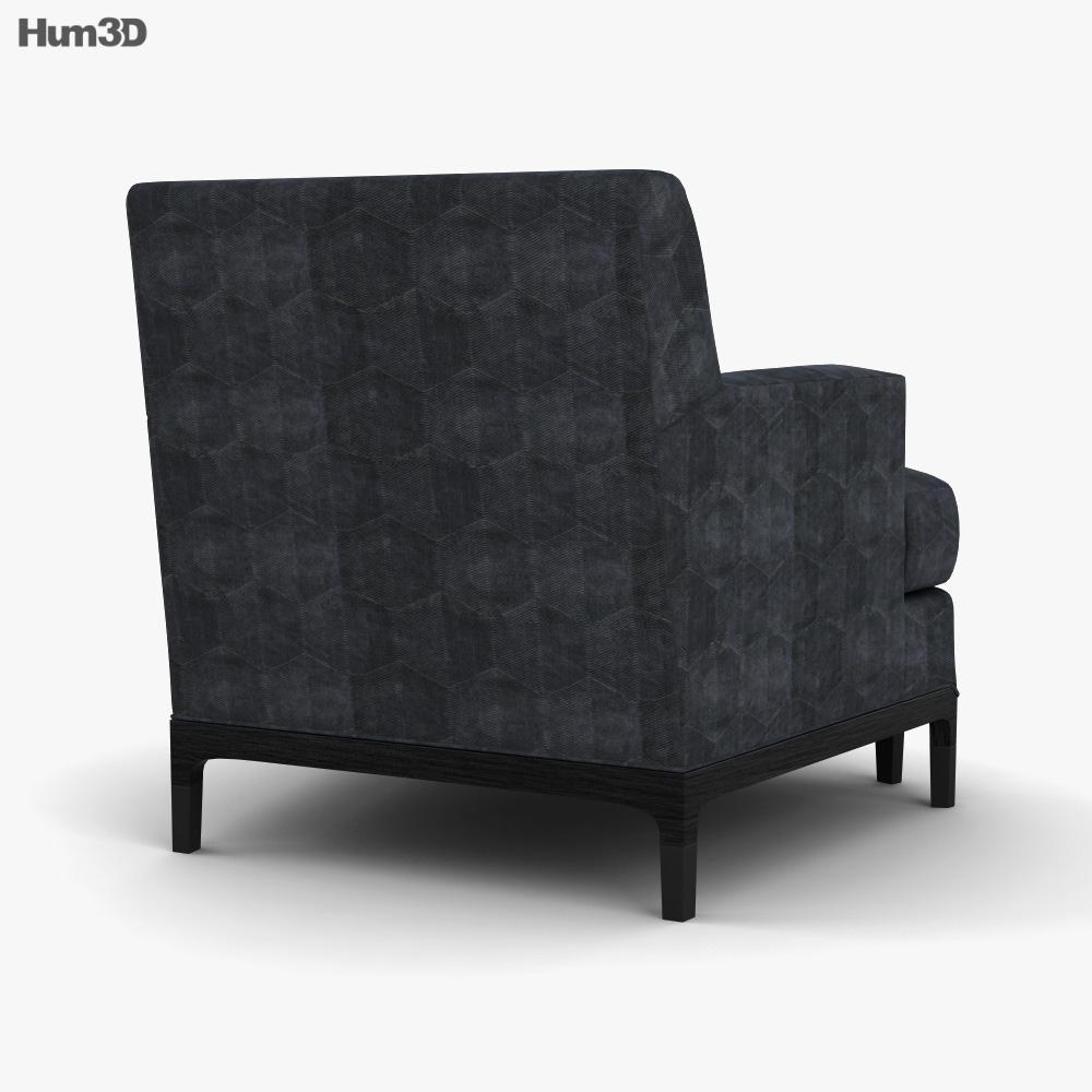 Baker Celestite Lounge chair 3d model