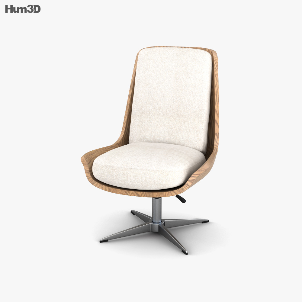 Burke Decor Burbank Desk chair 3D model