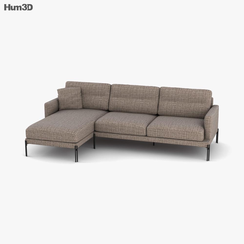 Calligaris Twin Contemporary Sofa 3D model