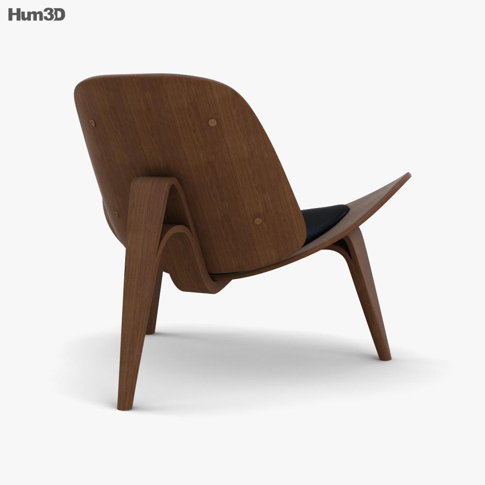 Carl Hansen and Son Shell Chair 3d model