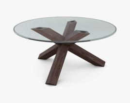 Cassina La Rotonda Glass Dining Table 3D model