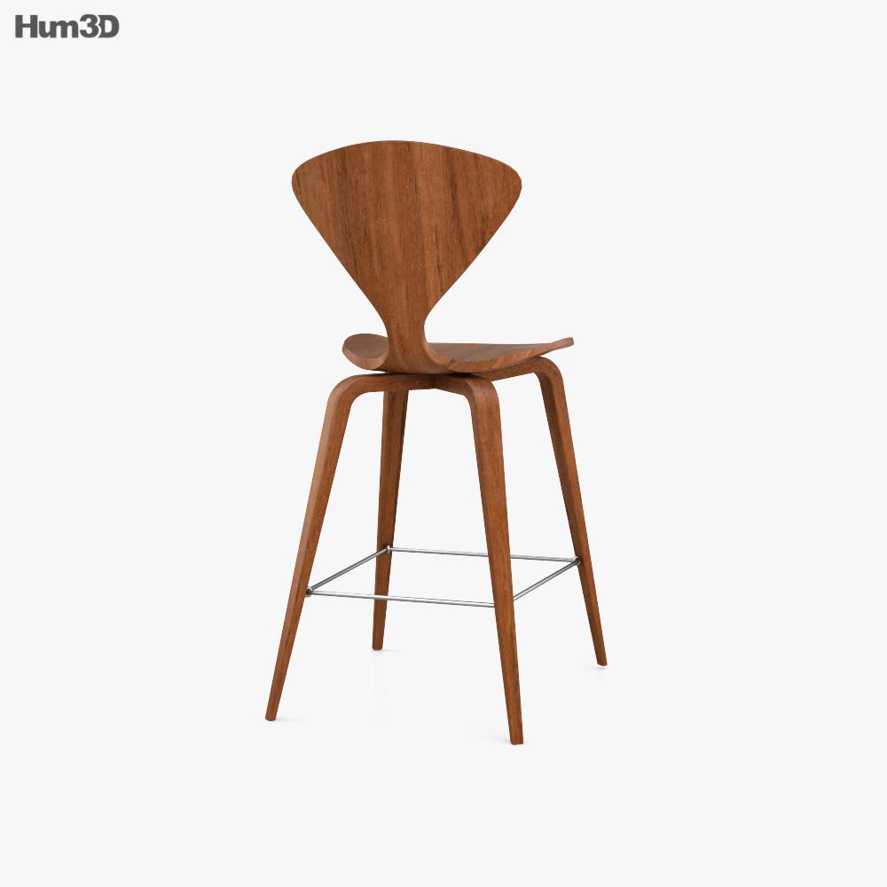 Cherner-Chair Company Cherner Bar stool 3d model