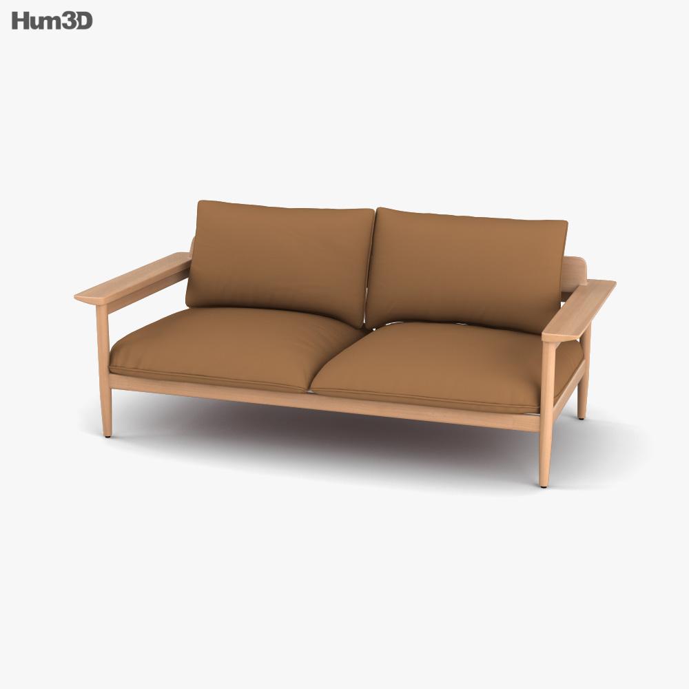 DWR Terassi Two-Seat sofa 3D model
