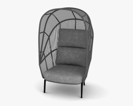Dedon Rilly Cocoon Chair 3D model