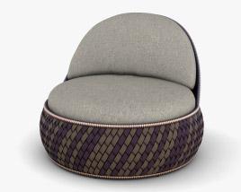 Dedon Dala Lounge chair 3D model
