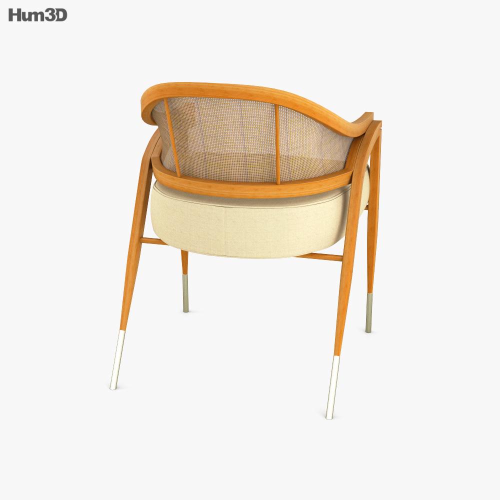 Dunbar A Frame Rattan Chair 3d model