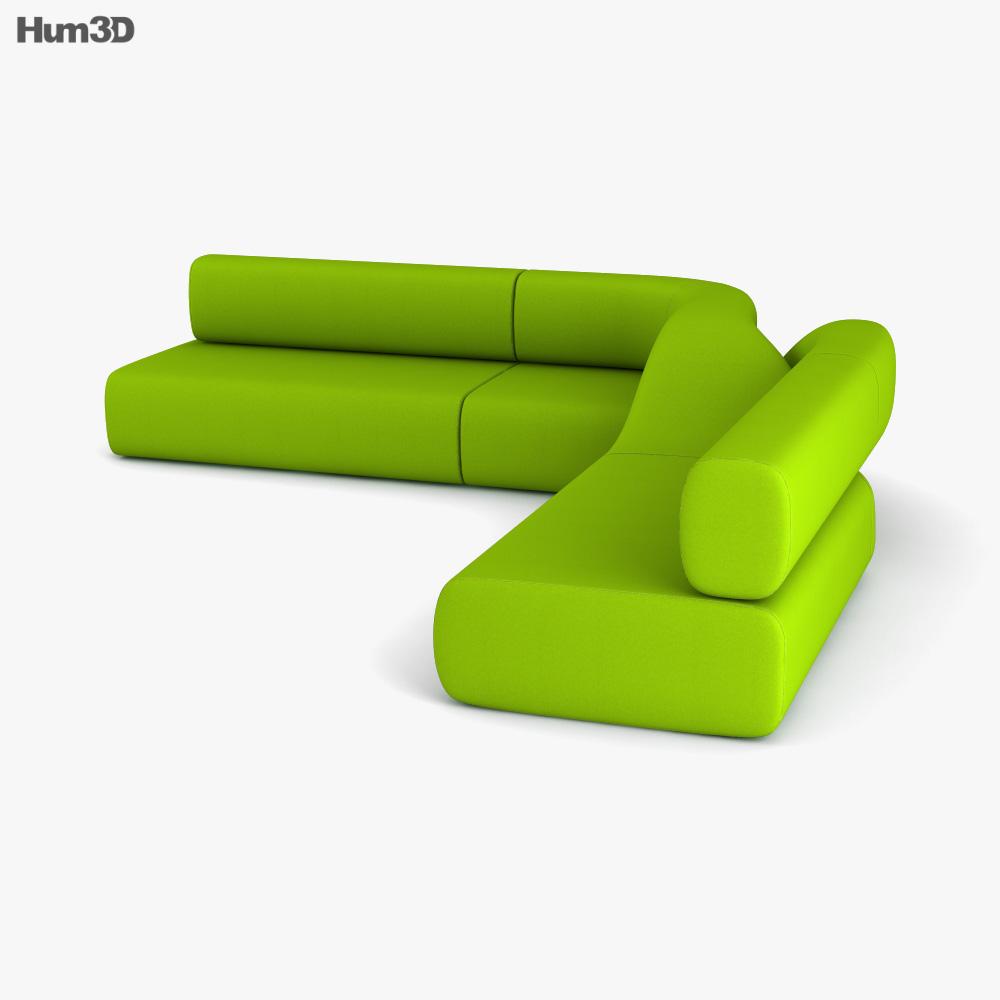 Dune Landscape Sofa 3d model