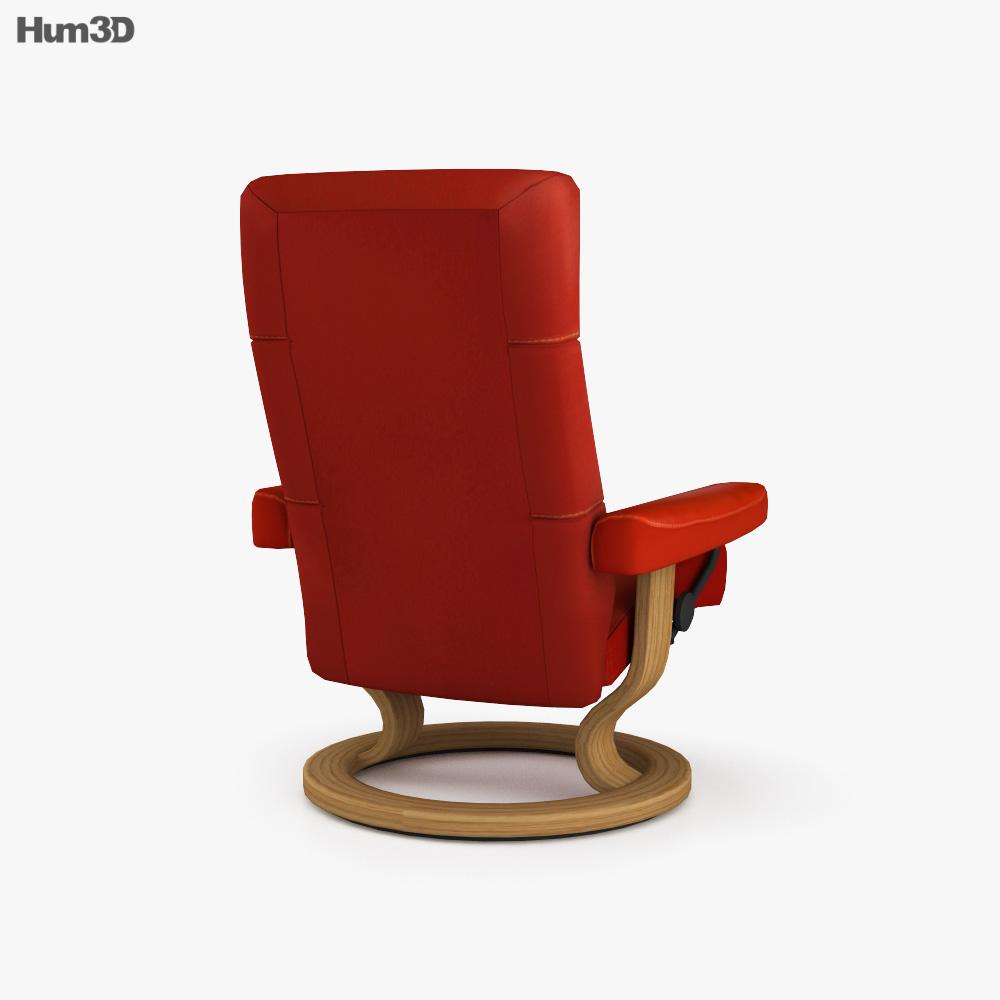 Ekornes Alpha Large Chair 3d model