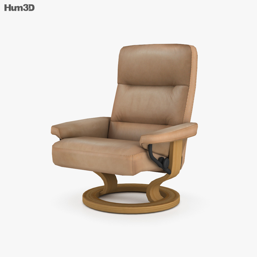 Ekornes Atlantic Chair 3D model
