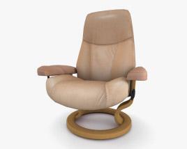 Ekornes Consul Chair 3D model