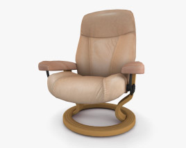 Ekornes Diplomat Armchair 3D model