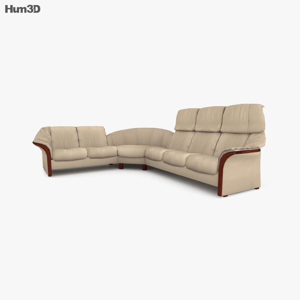 Ekornes Eldorado Corner sofa 3d model