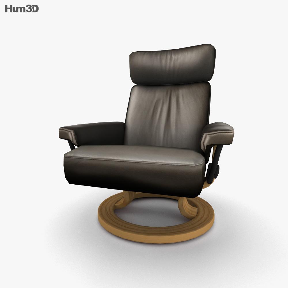 Ekornes Orion Chair 3D model