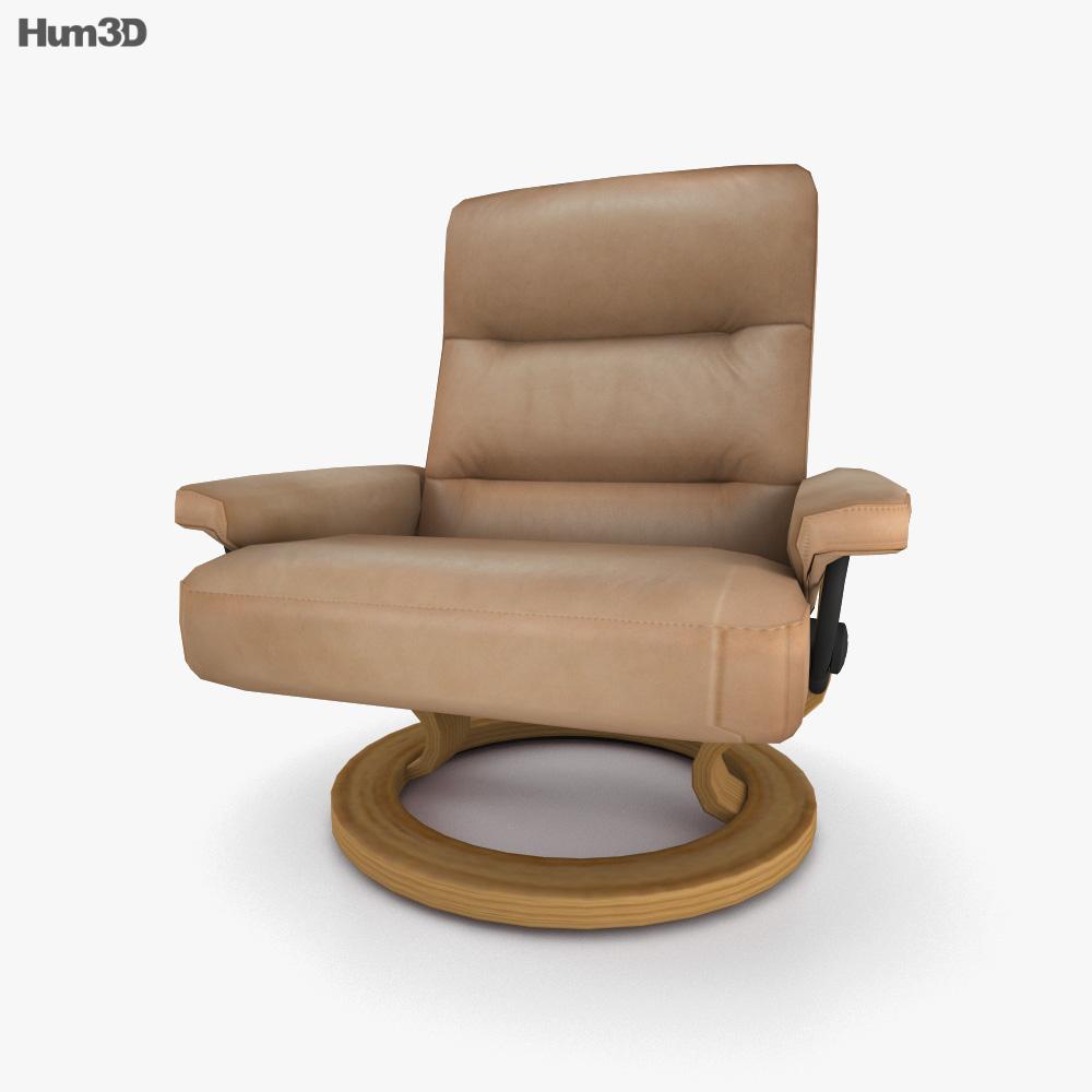 Ekornes Pacific Chair 3D model