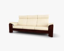 Ekornes Pegasus Dreisitziges Sofa 3D-Modell