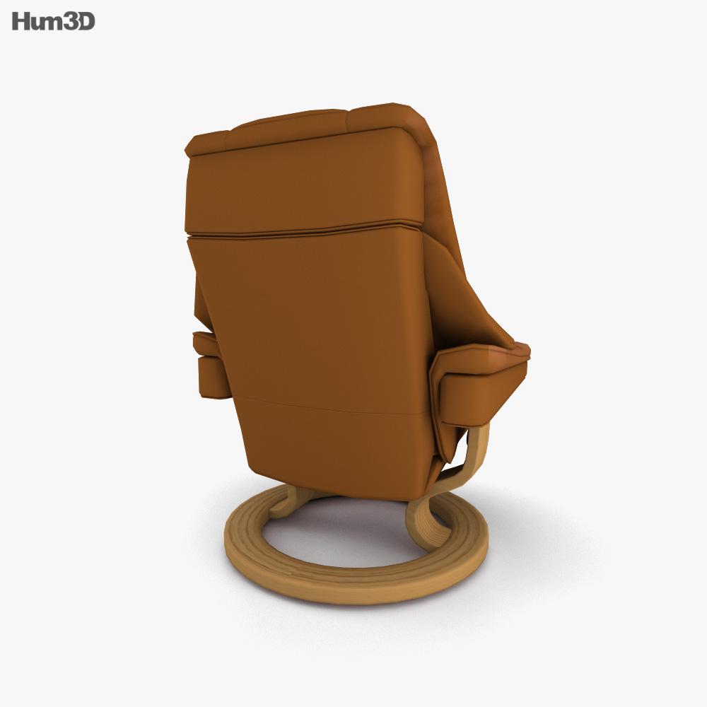 Ekornes Reno Chair 3d model
