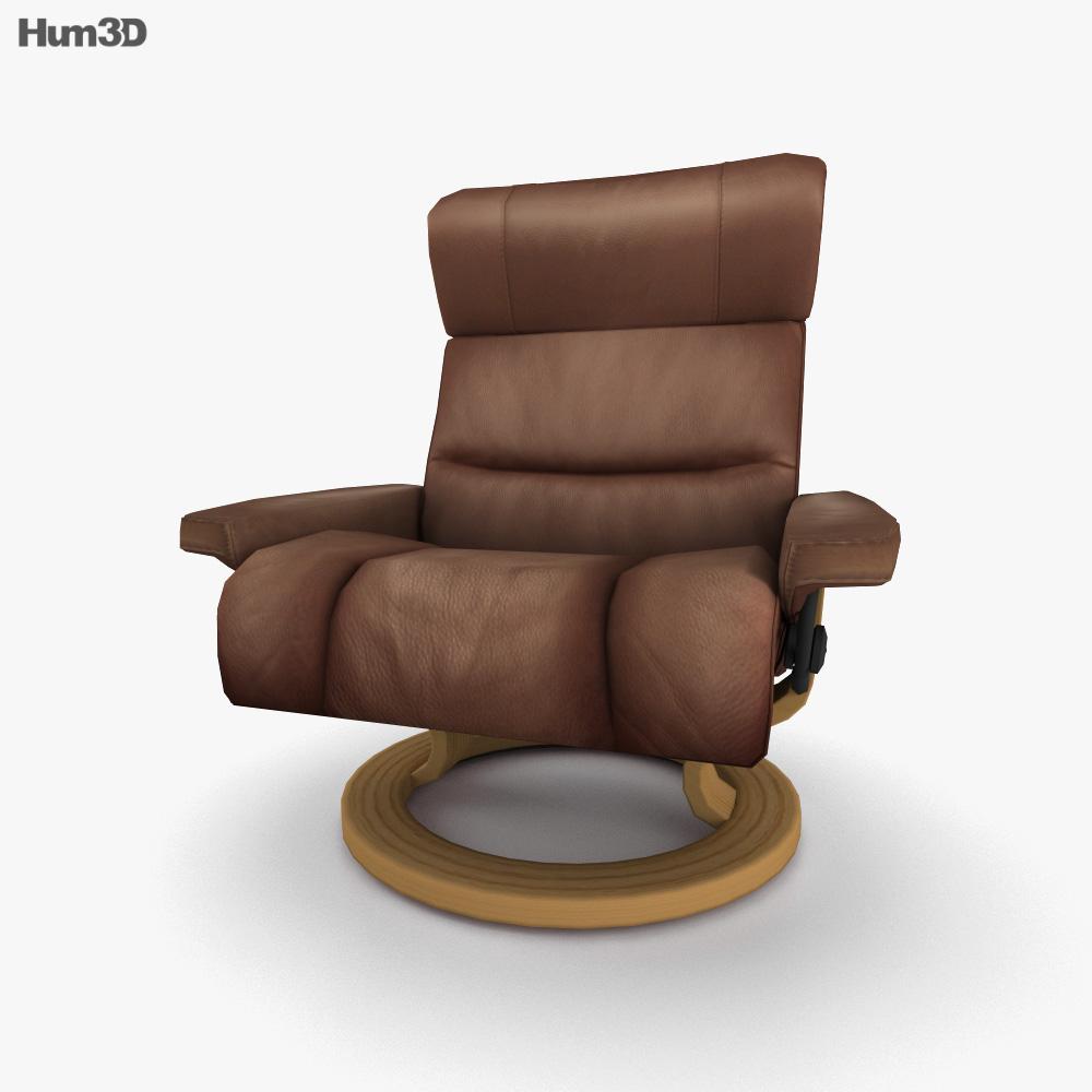 Ekornes Savannah Armchair 3D model